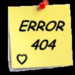 Erreur 404 mon amour !